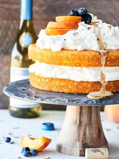 Beautiful Boozy Caramel Cake