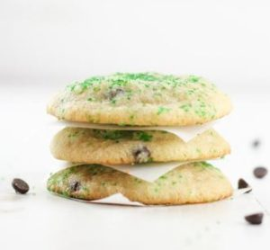Healthy Mint Chocolate Chip Cookies
