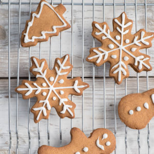 Festive Holiday Gingerbread Cookies