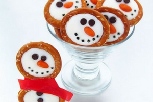 Frosty the Snowman Pretzels