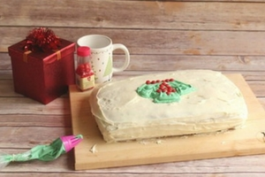 Ugly Sweater Eggnog Cake