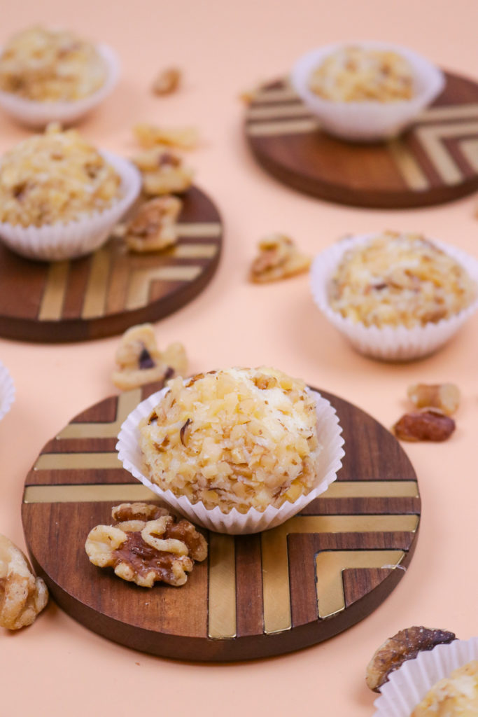 Nutty White Chocolate Truffles