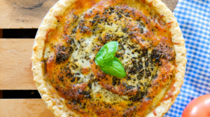 Learn how to make this quick and easy tomato pie by utilizing 3 key ingredients. It's a wonderful dish to make anytime of the day and anytime of the year!