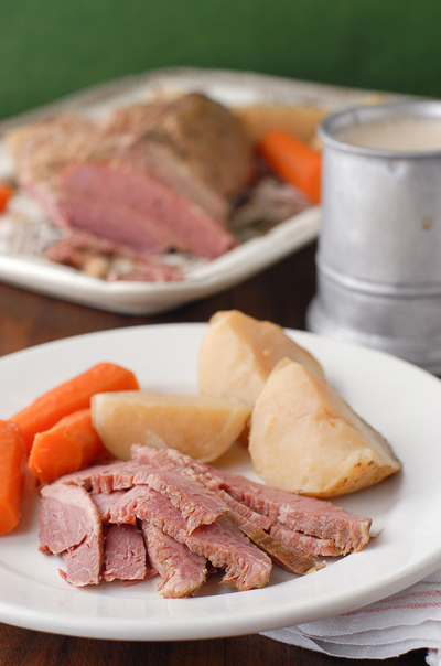 Beer-Simmered Corned Beef and Veggies