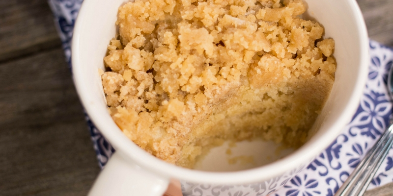 4 Minute Coffee Cake Mug Cake