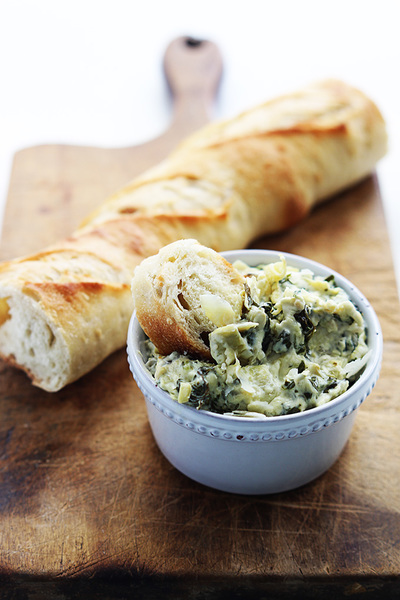 2-Step Creamy Spinach Artichoke Dip