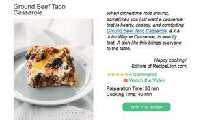 RecipeLion Test Kitchen Newsletter