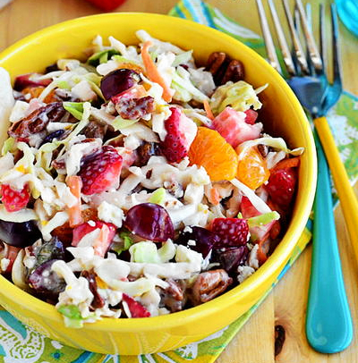 5 Minute Fruity Summer Coleslaw
