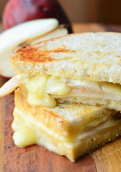 Dijon, Havarti, and Pear Grilled Cheese
