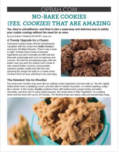 Oprah.com No-Bake Cookies